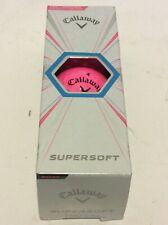 Callaway Supersoft Pink Golf Balls New 3 Ball Sleeve