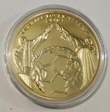 Medalla de oro de una Onza, conmemorativa del Mundial de Fútbol de Brasil 2014