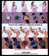 1976 Kelton scuba diving diver watch 5 models bikini lingerie woman photo ad