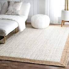 """2x3""""Feet Indian Braided Floor Rug Handmade Jute Rug Natural Jute Solid Area Rugs"""