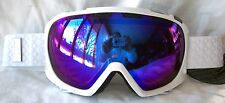 NEW $110 Scott FIX Mens Gloss White Winter Snow Ski goggles smith Blue lens