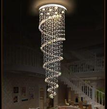 Long Crystal Pendant Chandeliers Rain Drop Spiral Ceiling Fixtures Lamp Lighting