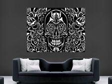 Cráneo Trippy cartel impresión Abstracto Pared Arte Clásico enorme imagen Gigante Enorme Grande