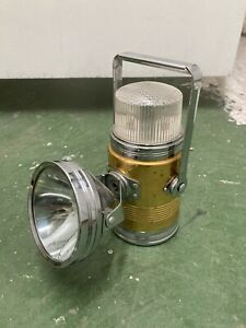 Vintage Pifco Car Inspection Lamp Torch Brass Tone White Dome Top Original Box