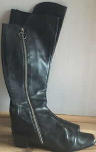 Trent Nathan Leather Knee High Boots Size 37.5. AUS 6.5.