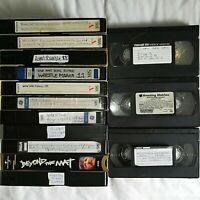 Lot of 14 Used Assorted Brand VHS Blank Tapes Assorted Wrestling