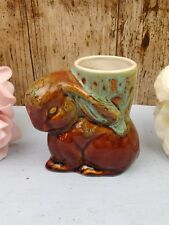 FOSTERS? POTTERY HONEYCOMBE RABBIT SHAPED EGG CUP or SPILL VASE