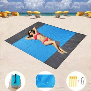 Waterproof Beach Towel Pocket Sand Free Towel Large Portable Mat Beach Camping T