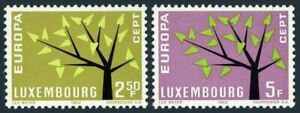 Luxembourg 386-387 blocks/4,MNH.Mi 657-658.EUROPE CEPT-1962.Young tree,19 leaves