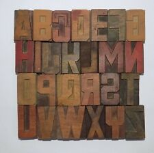 """Letterpress Letter Wood Type Printers Block """"A to Z"""" Typography (eb-72)"""