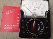 Vintage Triplett Multimeter Type 2 Model 630 PL TESTED w/ Instruction Manual