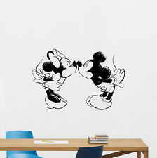 Mickey Minnie Mouse Kissing Wall Decal Vinyl Sticker Nursery Disney Decor 95bar