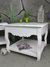 Couchtisch Beistelltisch 60 x 60 cm Landhaus Shabby barock Weiß LV4054
