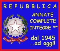 ITALIA REPUBBLICA Annate complete a scelta dal 1945 ad oggi Integre Lusso ** MNH
