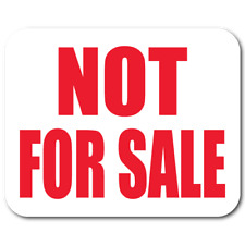 """""""NOT FOR SALE"""" 1.25 x 1 Rectangle Red on White Gloss, Roll of 1,000 Labels"""