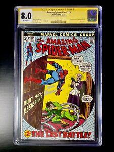 Amazing Spiderman #115 CGC 8.0 Signed By John Romita