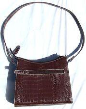 Villager(Liz Claiborne)Shoulder Bag–Brown Purse/Handbag–Alligator/Croc Print–EUC