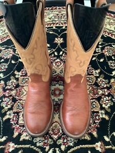 Boulet Bullhide Cowboy Boot Men's Size 8 1/2C (Hard To Find Size)
