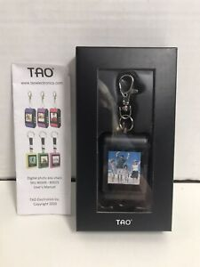 "TAO Electronics 1.5"" Digital Photo Picture Keychain Silver Rechargeable NEW"