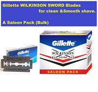 GILLETTE WILKINSON SWORD RAZOR BLADES double edge safety razor 500 blades FFSW