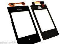 Microsoft Nokia Asha 503 vidrio Pantalla Táctil Digitalizador pantalla en negro