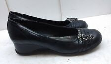 Unlisted by Kenneth Cole Women's Black Leather Wedge Clogs Slip On Work Shoe 9M