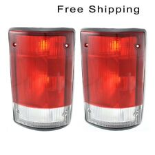 Tail Lamp Lens and Housing Set of 2 Pair LH & RH Side Fits Ford Econoline Van