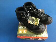 Ozark Trail men's hikers, leather, flexible midsole,  black