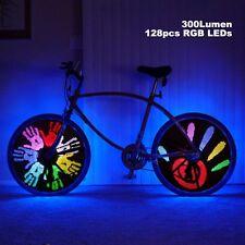 128 RGB LED 18 Patterns DIY Programmable Bicycle Spoke Bike Wheel Light Bicycle