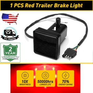 Pair LED Square Lights Trailer Waterproof For Campers Tow Semi Truck Trailer Red