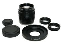 Fujian-50mm F1.4 CCTV Movie Lens w/ C-EOS.M to Canon EOS M EF-M Mount Camera M1