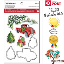 Christmas Stamps & Dies, Snowy Scene Tree, Vintage Ute, Presents, Recollections
