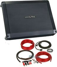 Alpine BBX Series 2-ohm Stable 4 Channel Class-A/B Car Audio Amplifier+Amp Kit