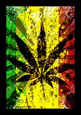 RASTA LEAF COLLAGE - WEED FLAG 3 x 5 FEET - WALL HANGING POSTER MARIJUANA RP0052