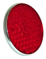 LUCAS REPLICA ROUND REFLECTOR RED AS FITTED TO TRIUMPH BSA ROYAL ENFIELD 99-1162