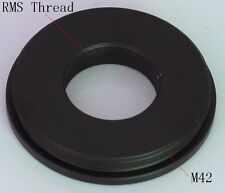 New RMS Thread to M42 (42mm x 1) Adapter fr microscope objective flat to camera