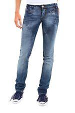 Jeans Donna Pantaloni SEXY WOMAN B096 Blu Gamba Dritta Tg S