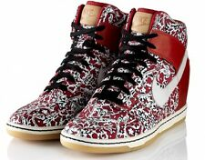Nike Liberty of London Dunk Sky High LIB Lagos UK 7 US 9.5 (w) 41 Wedge hi red