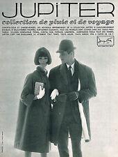 PUBLICITE ADVERTISING 1964   JUPITER   vetements de pluie pardessus impérméables