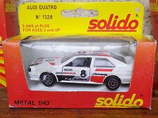 SOLIDO FRANCE AUDI QUATRO RALLYE de 1983 N° 1328 Neuf + boite