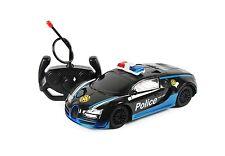 Noir 1:16 rc voiture de police radio télécommande racing voiture modèle game boys toy