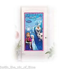 DISNEY FROZEN PRINCESS GIRLS BIRTHDAY DECORATION PARTY IS HERE DOOR BANNER