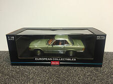Mercedes-Benz 350SL 1977 Silver Green 1:18 Sun Star