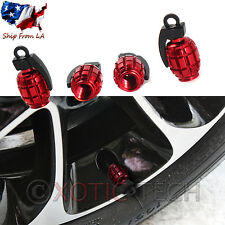 JDM Wheel Decor Exterior Trim Grenade Tyre Tire Valve Stems Air Dust Cover Caps