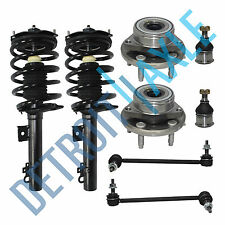 New Front Complete Quick Struts + Wheel Hub Bearings + Sway Bars + Ball Joints
