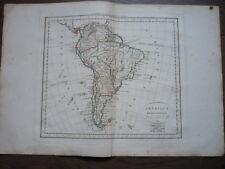 GRANDE CARTE L'AMERIQUE MERIDIONALE DU SUD DELAMARCHE 1811