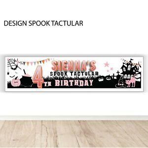 Halloween Birthday Banner Personalised, Spooktactular birthday banner.