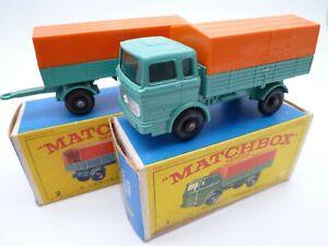 VINTAGE MATCHBOX LESNEY No.1e & 2d MERCEDES BENZ TRUCK IN ORIGINAL BOXES 1967