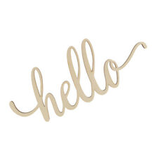 Wooden Hello Letter Unfinished Wooden Hello Sign Wall Art Decor