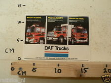 STICKER,DECAL DAF NIEUW DE 2500, DE NTT, DE 3300 TRUCK